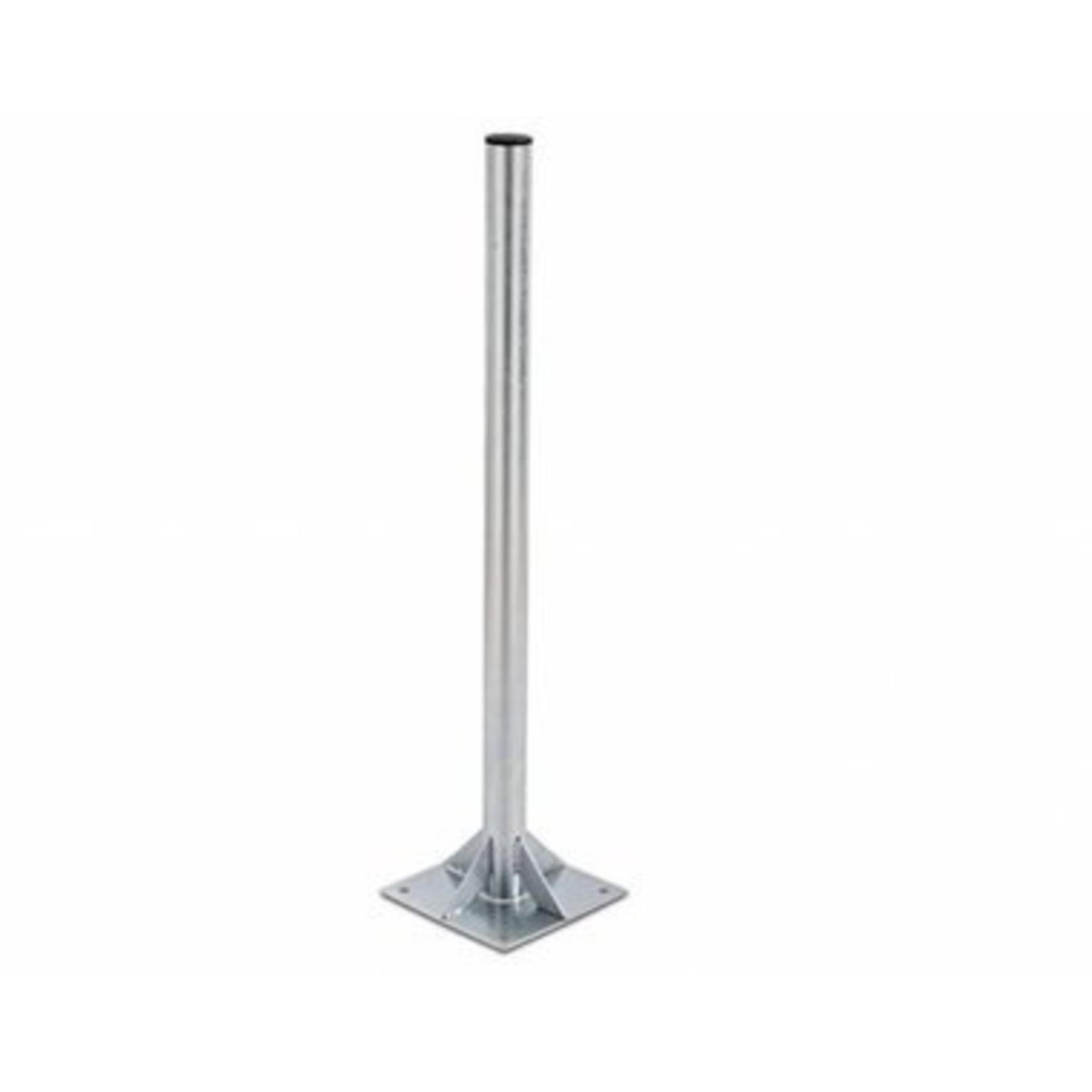 DEFISAT FIXATION SOL AVEC MAT 60 mm diamètre - 1 PIED 30x30 cm