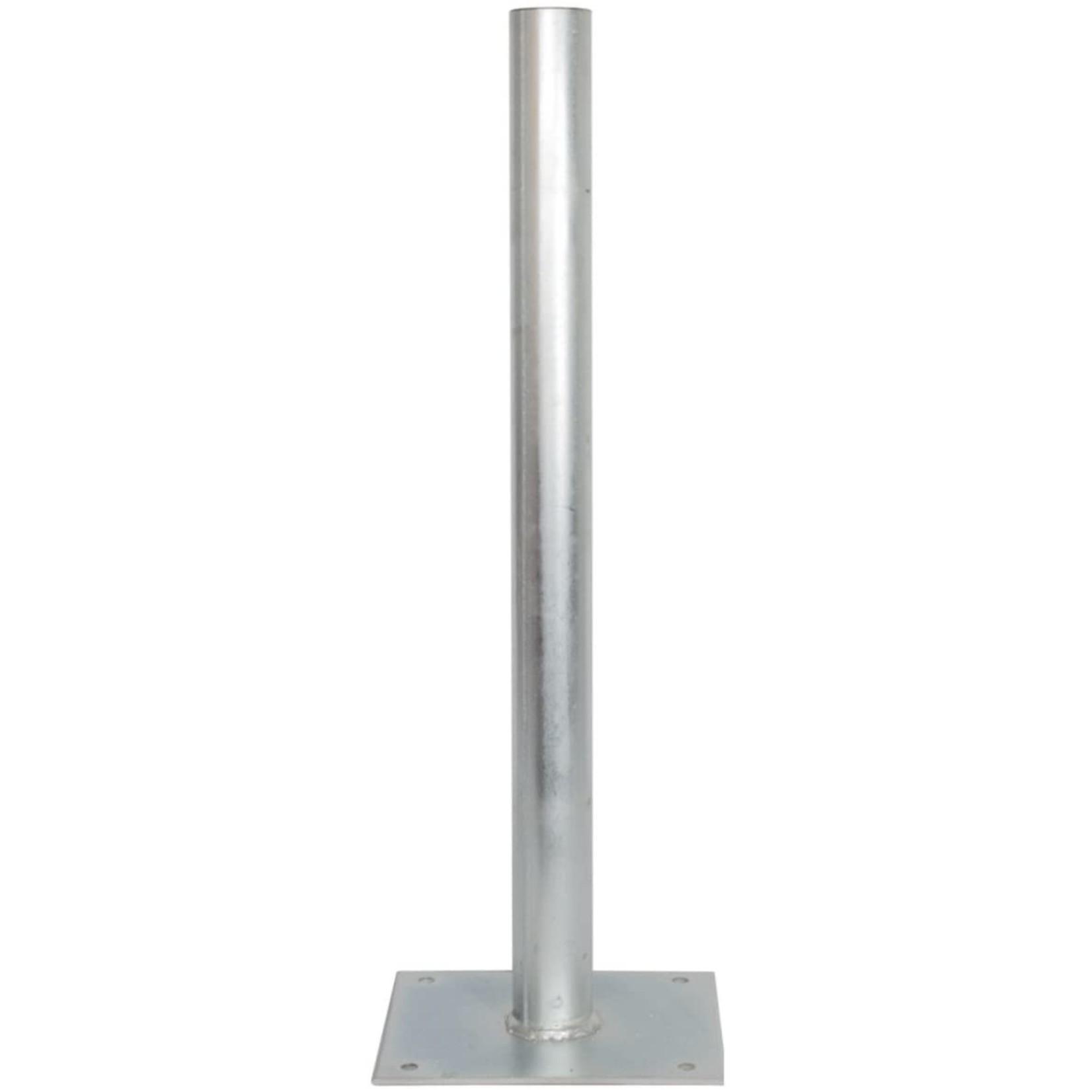 DEFISAT GRONDBEVESTIGING MET MAST 48 mm dia - 1 VOET 30x30 cm