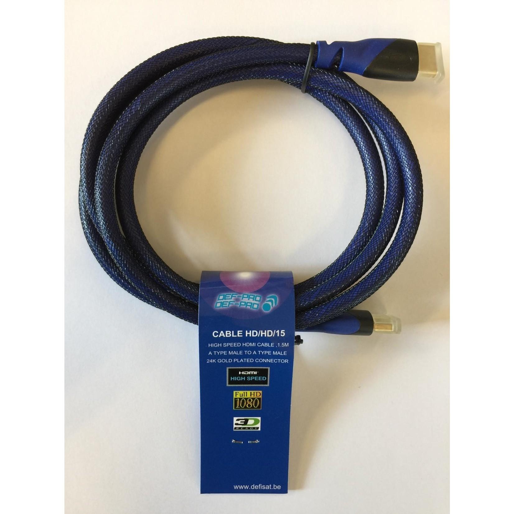 DEFISAT CABLE HDMI-HDMI - Version 1.3B de 1m50 - VRAC