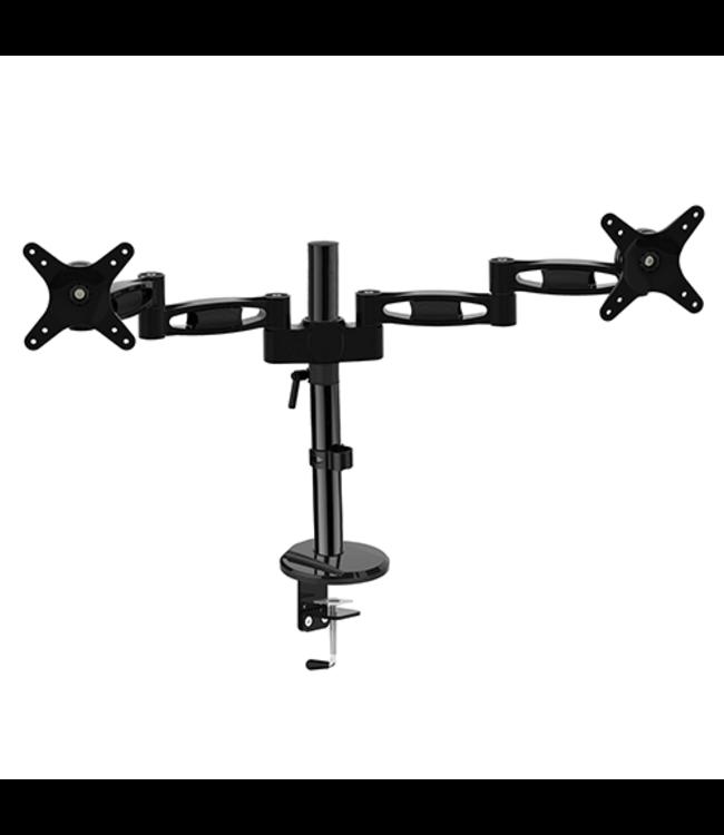 DQ Wall-Support D09 Dubbele Monitorarm Zwart