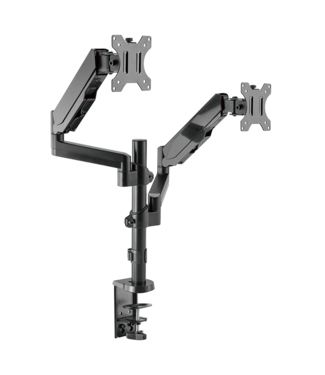 DQ Wall-Support Double Monitorarm Sena zwart - with gas spring