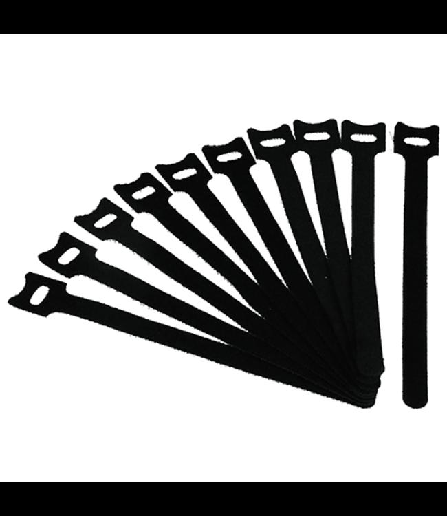 DQ Wall-Support Kabelbinders Zwart - 10 Stuks
