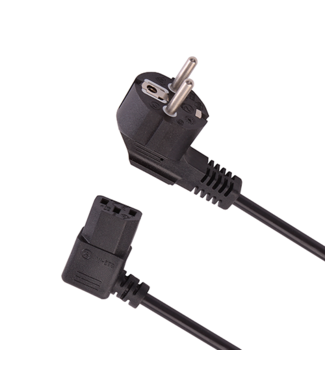 DQ Wall-Support Power Cable C13 Right Angled 3M