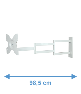 DQ Wall-Support Second chance - Rotate XL 98,5 cm TV bracket white