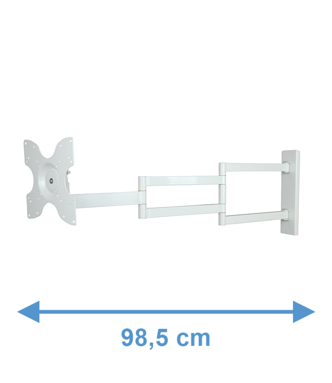 DQ Wall-Support 2e Kansje - Rotate XL 98,5 cm TV Beugel Wit