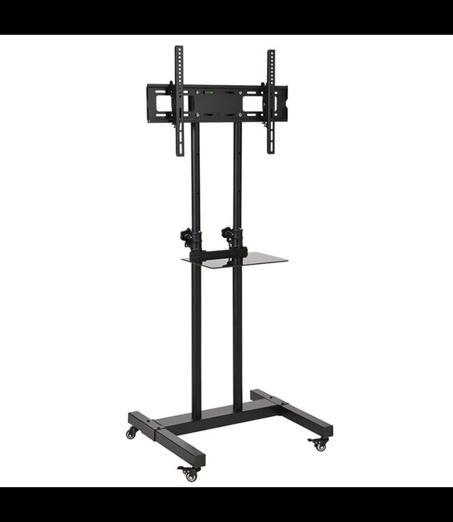 DQ Wall-Support Hestia 600 TV Floorstand Black