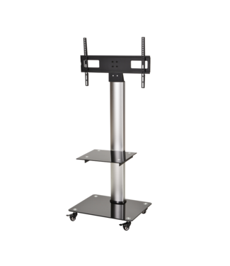 DQ Wall-Support Mobile TV Stand Adrian 2 Silver