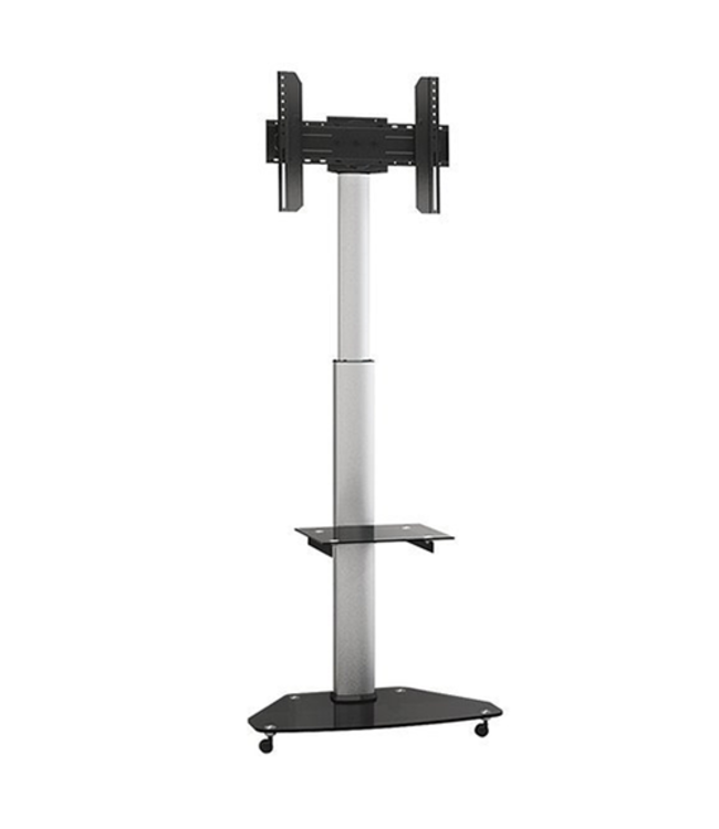 DQ Wall-Support Mobile TV Stand Silver Bullit silver/black