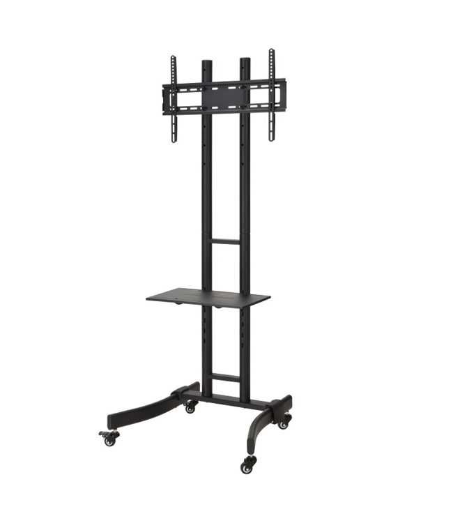 DQ Wall-Support CT-FT TV Floorstand Black
