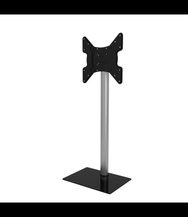 DQ Wall-Support Kosmas TV Vloerstandaard zwart / zilver