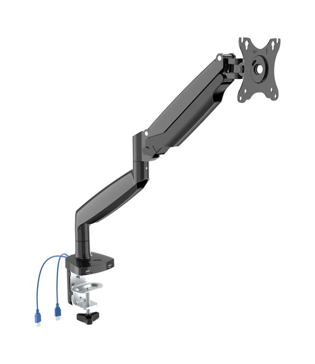 DQ Wall-Support monitor arm Lineo single USB black
