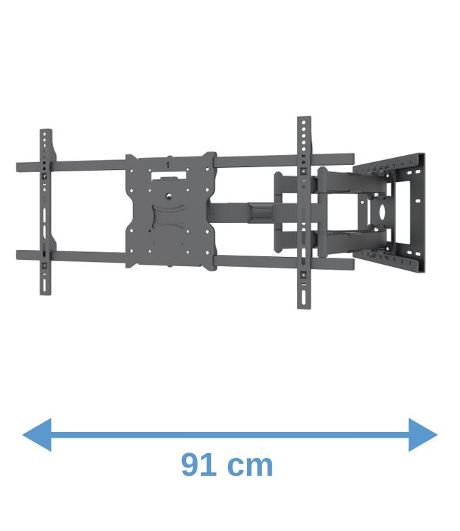 DQ Wall-Support Atlas 91 cm black