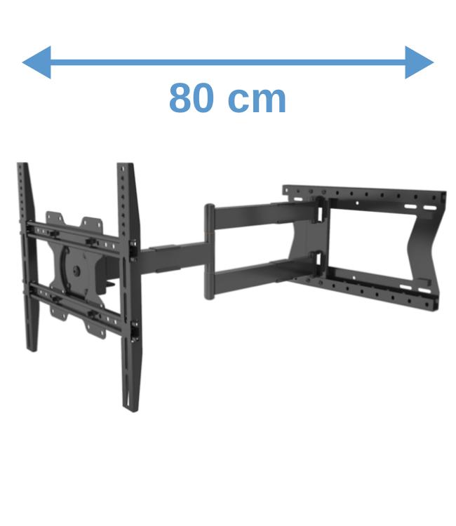 DQ Wall-Support Hercules Fixed 400 TV bracket Black 2.0 80 cm