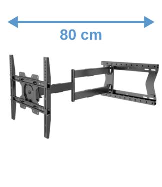 DQ Wall-Support Hercules 2.0 80 cm Flex 400 TV Beugel zwart