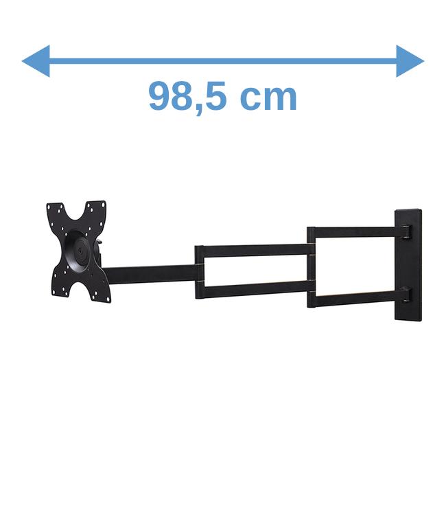 DQ Wall-Support 2e Kansje Rotate XL 98,5 cm Draai- en Kantelbare TV Beugel Zwart