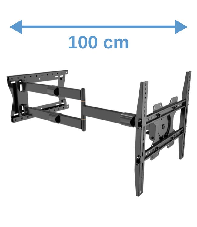XTRARM Crius 100 cm Rotate 400 TV Beugel zwart