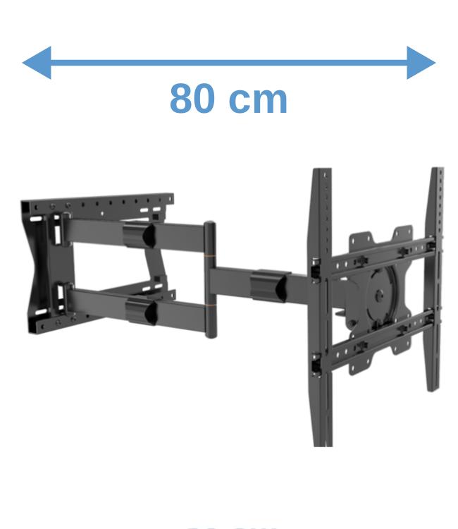 XTRARM Tantal 80 cm Flex 400 TV Beugel zwart