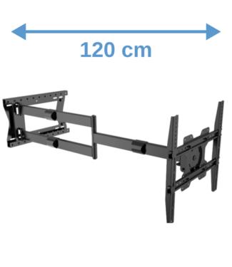 XTRARM Ferrom 120 cm Rotate 400 TV beugel zwart