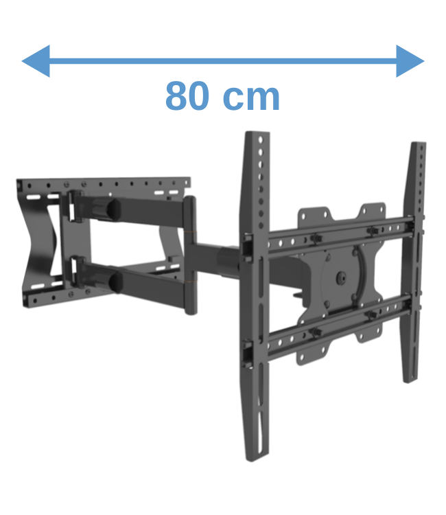 XTRARM Tantal 80 cm Fixed 400 TV beugel zwart