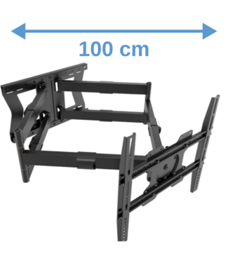 XTRARM Cratos 100 cm Double Rotate 400 TV bracket Black