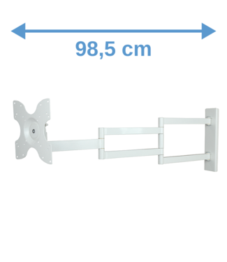 DQ Wall-Support Rotate XL 98,5 cm White TV Wall Bracket