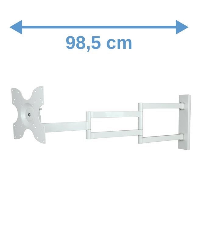 DQ Wall-Support Rotate XL 98,5cm Draai- en Kantelbare TV Beugel Wit