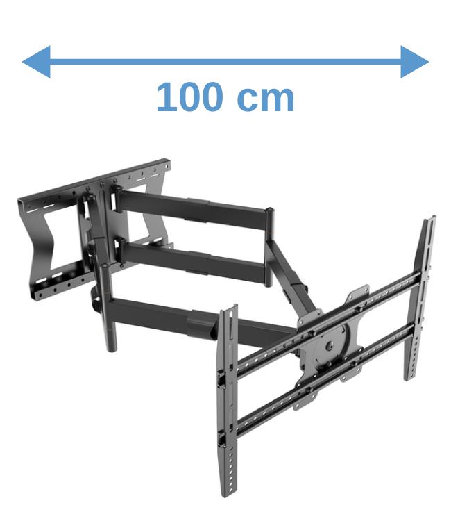 XTRARM Cratos 100 cm Double Rotate 600 TV bracket black