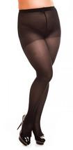 Elegante half doorschijnende panty met lichte ondersteuning