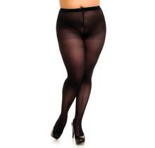 Comfortabele half doorschijnende zwarte basispanty Glamory Microstar 50