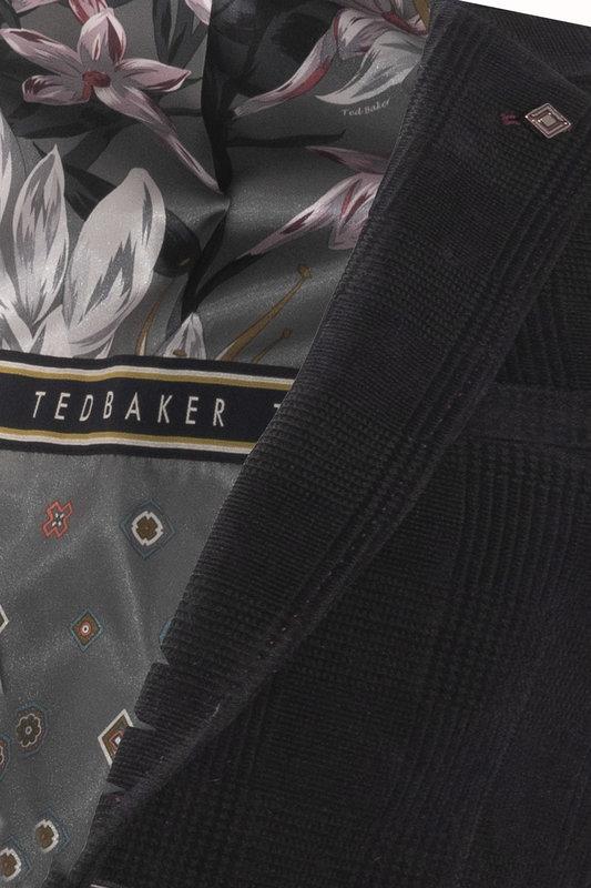 Ted Baker YORK CHECK VELVET BLAZER (843)