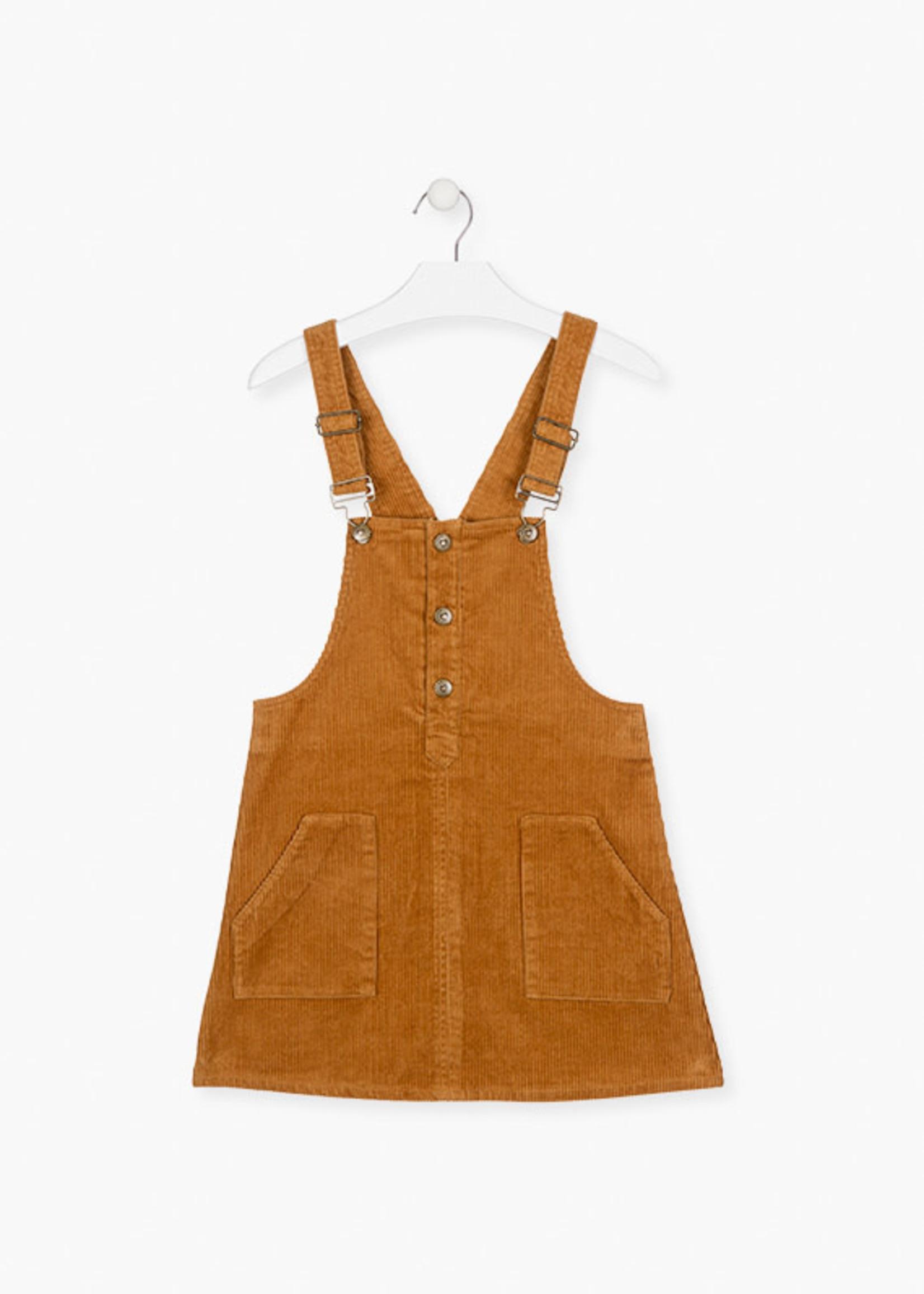 Losan PINAFORE DRESS - Mustard