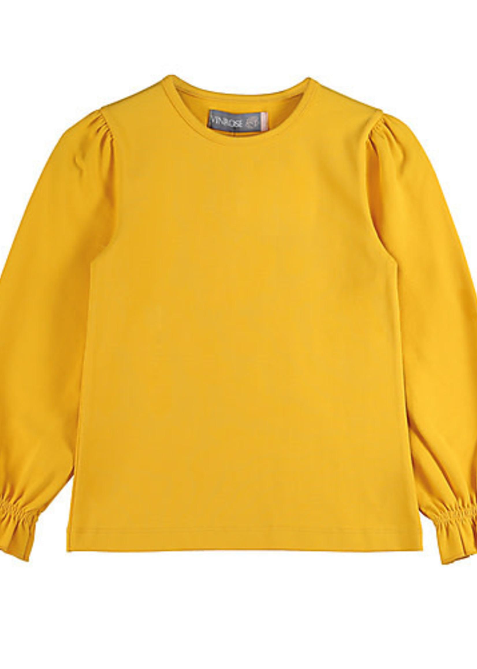 vinrose Vinrose Longsleeve t-shirt oker
