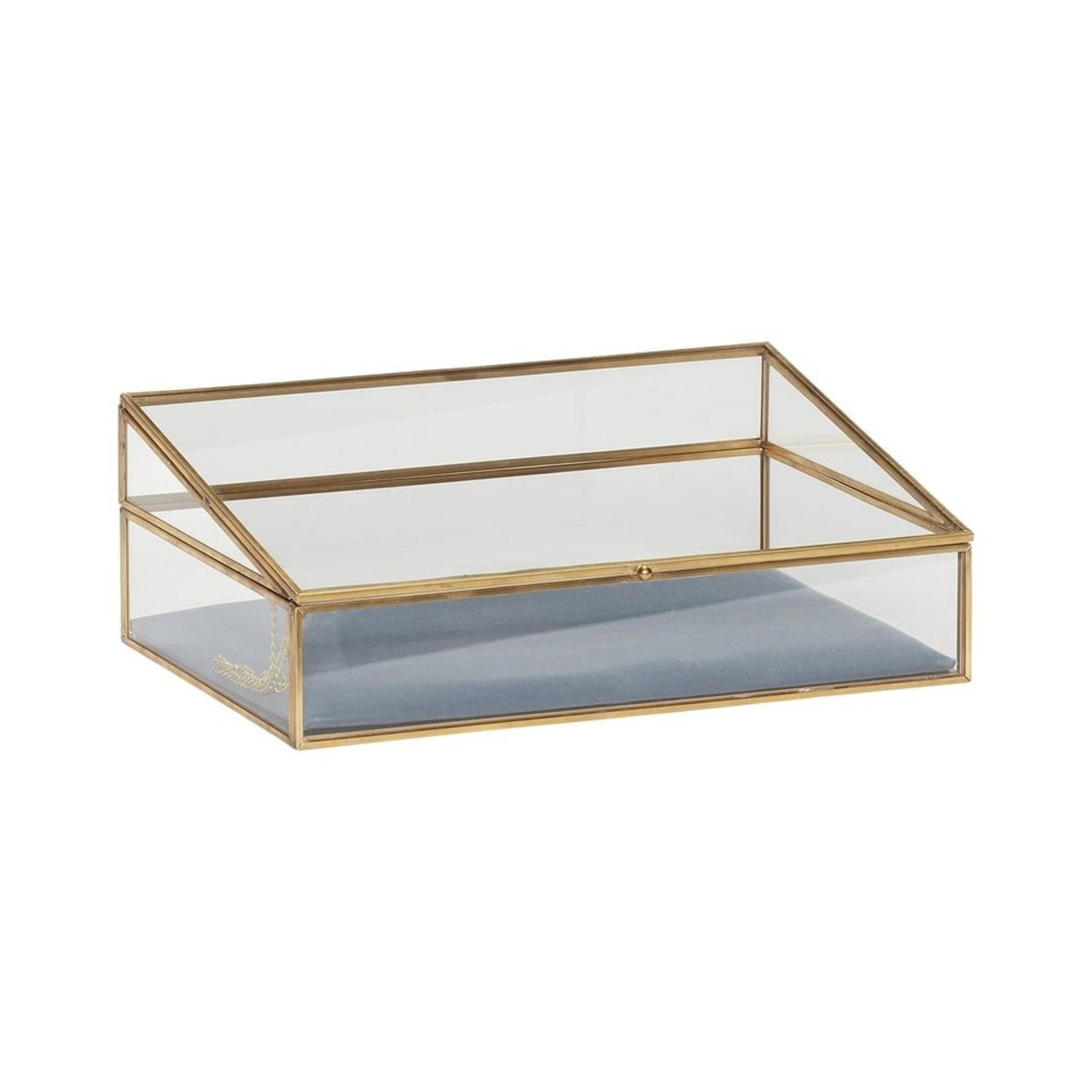 Hübsch Hübsch, glazen box met messing