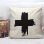 I Love My Interior Kussenhoes groot kruis