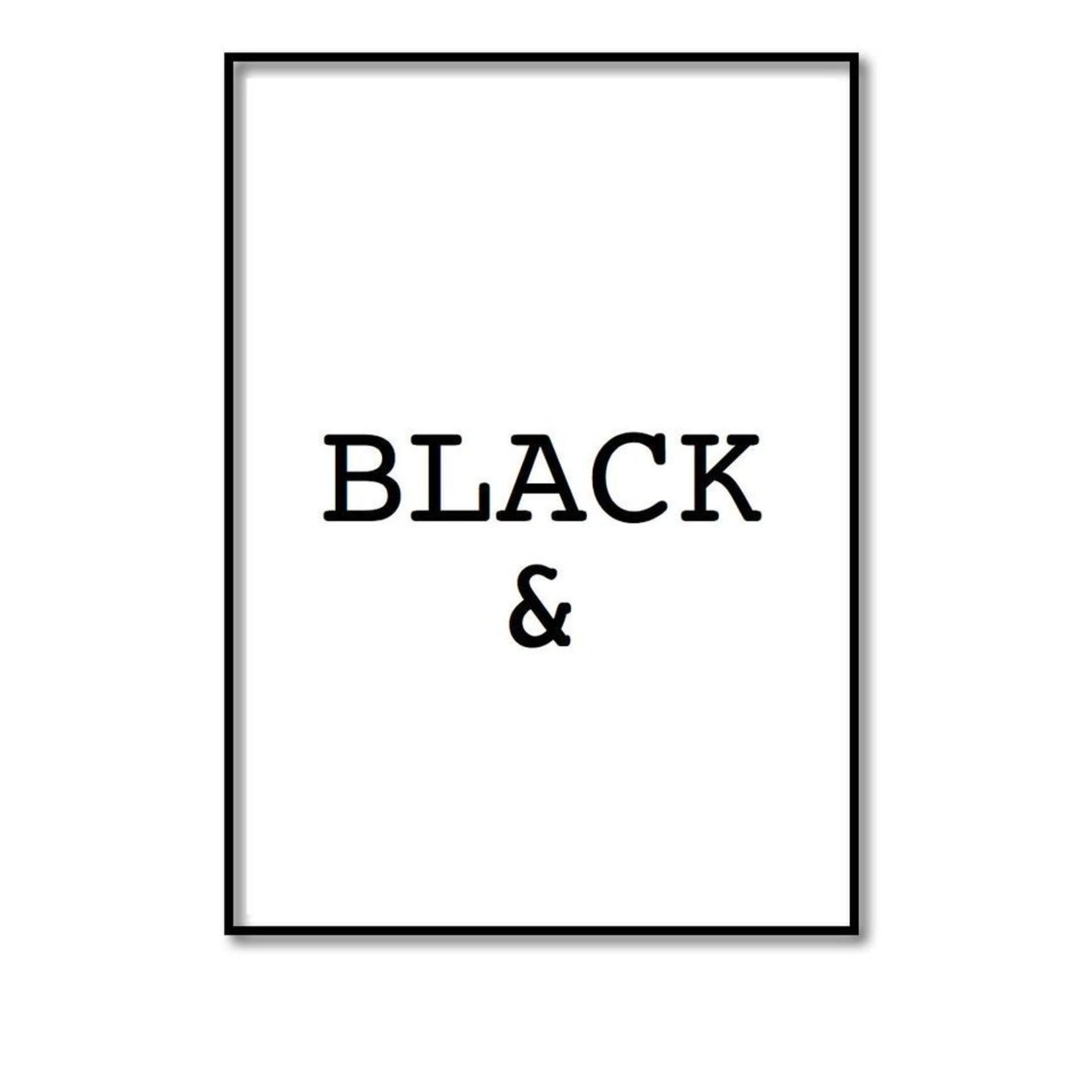Pixelposter - Black & (A4)