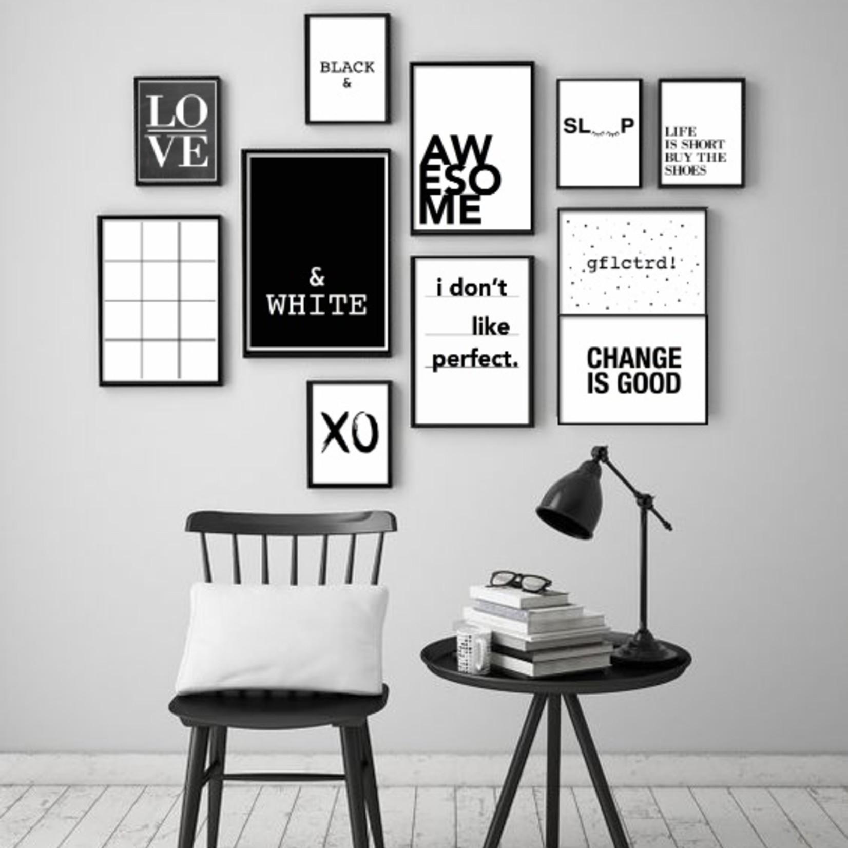 Pixelposter - & white (A4)