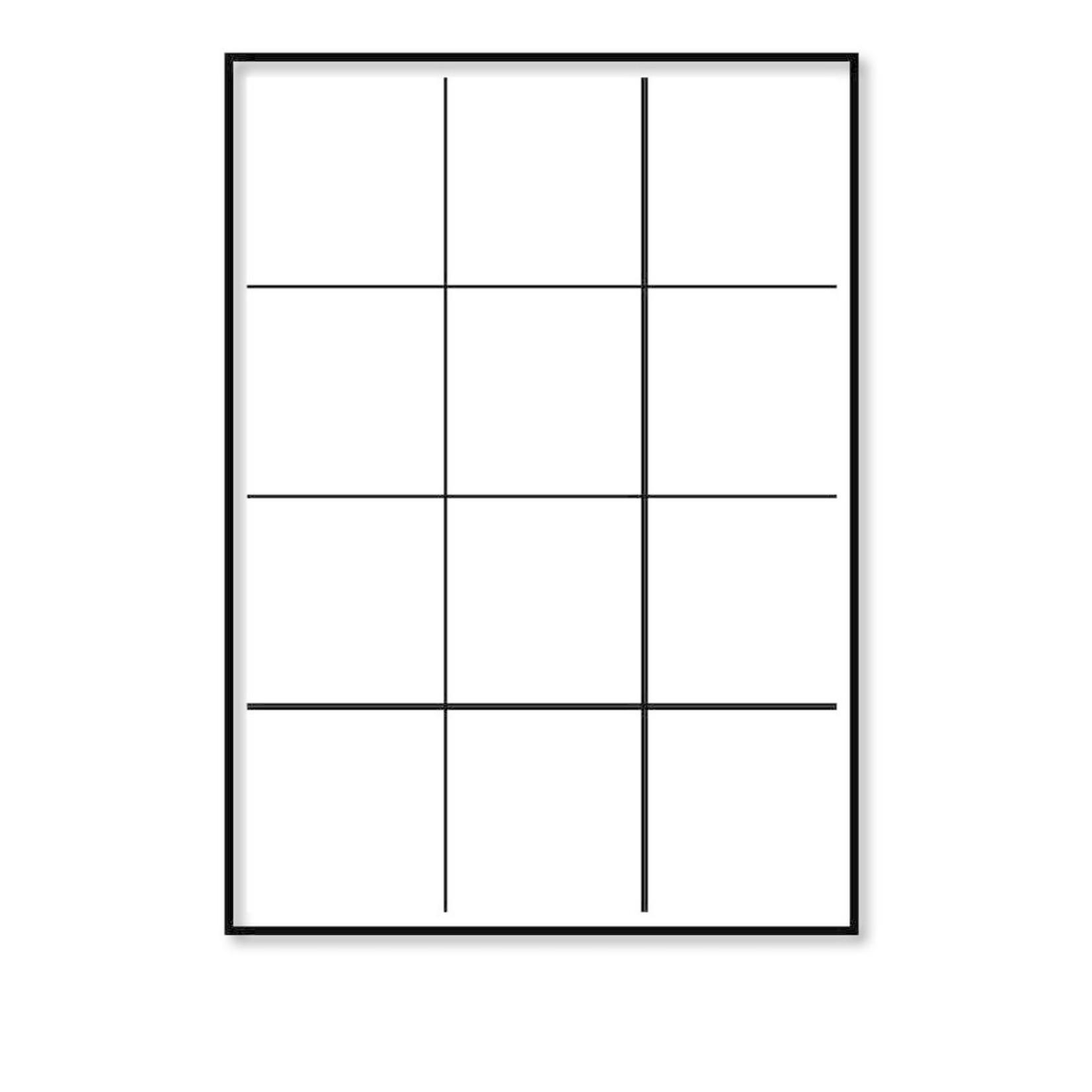 Pixelposter - Raster (A4)