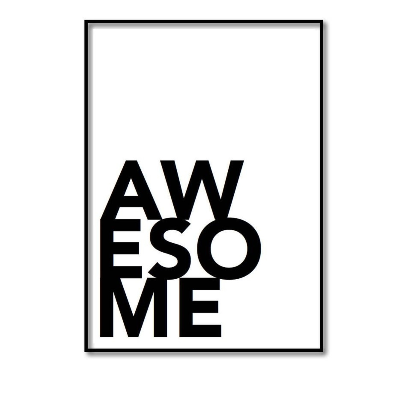 Pixelposter - Awesome (A4)