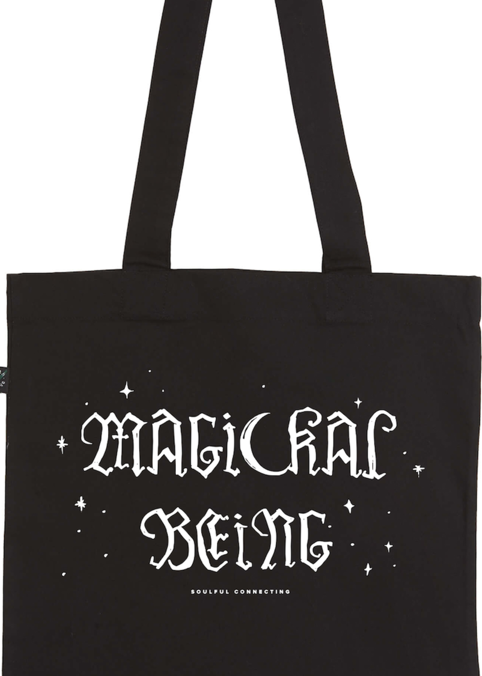 MAGICKAL BEING Bag in white on black