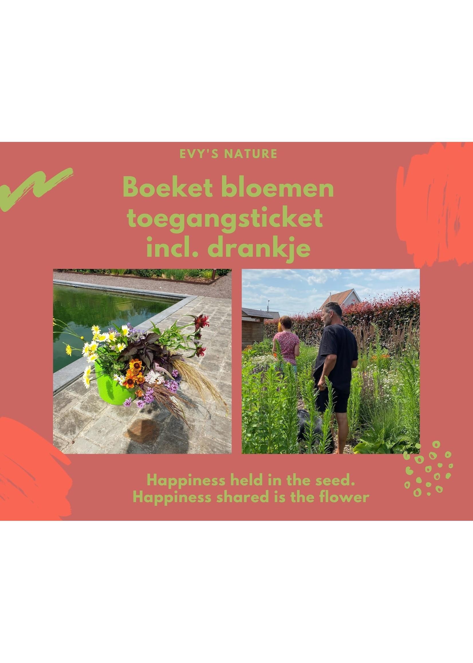 Evygoesnature Boeket bloemen incl. ticket pluktuindag Evygoesnature