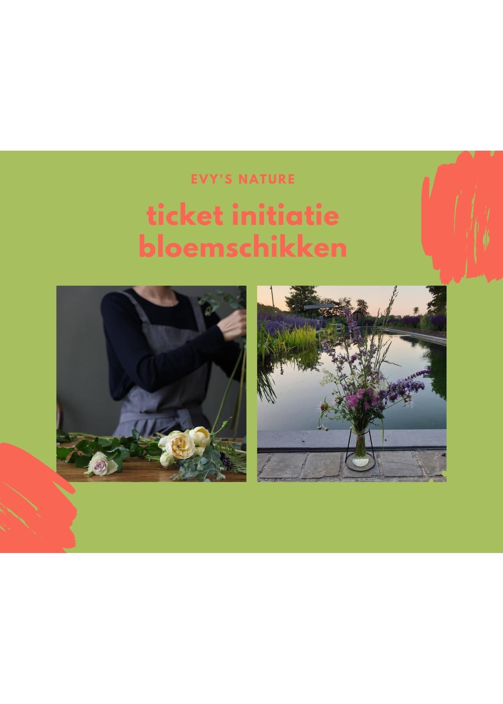 Evygoesnature Ticket initiatie bloemschikken 11/9 10u Evygoesnature