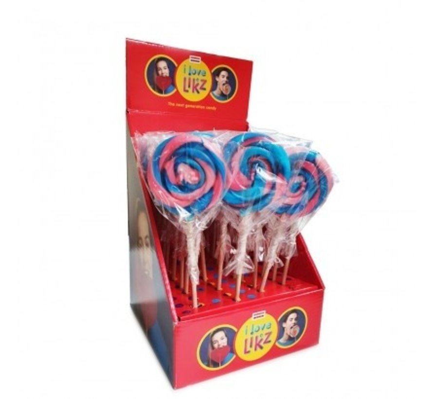 Blauw-Roze Lolly 80 gram