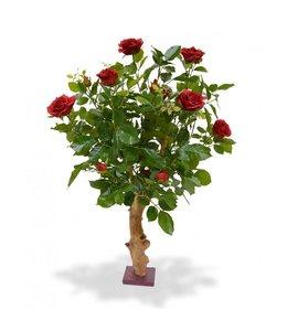 Kunstroos op stam 75 cm rood