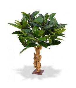Philodendron 80 cm op voet kunstplant