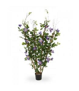 Clematis kunstplant 125 cm paars