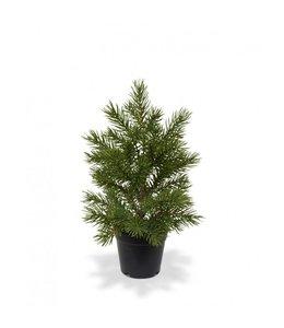 Mini kunstkerstboom in pot