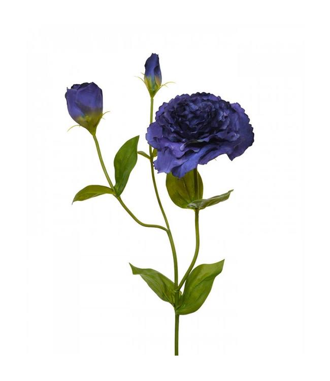 Lisianthus kunst steelbloem 80 cm blauw
