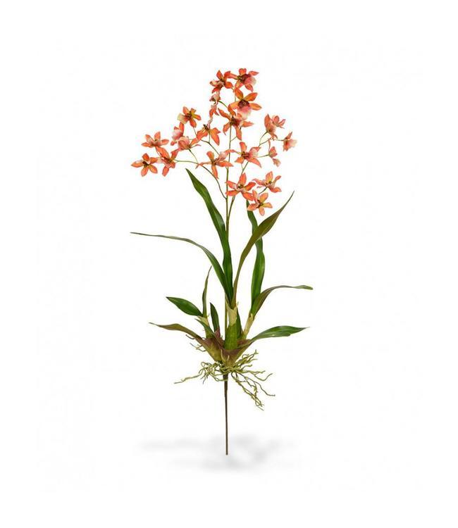 Macara Orchidee kunstboeket 80 cm oranje