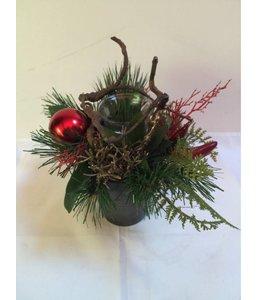 Kerststukje Curlywood 13 cm