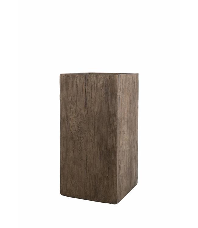 """Prachtige plantenbak 80 cm in houtskleur van de serie """"Galant"""""""